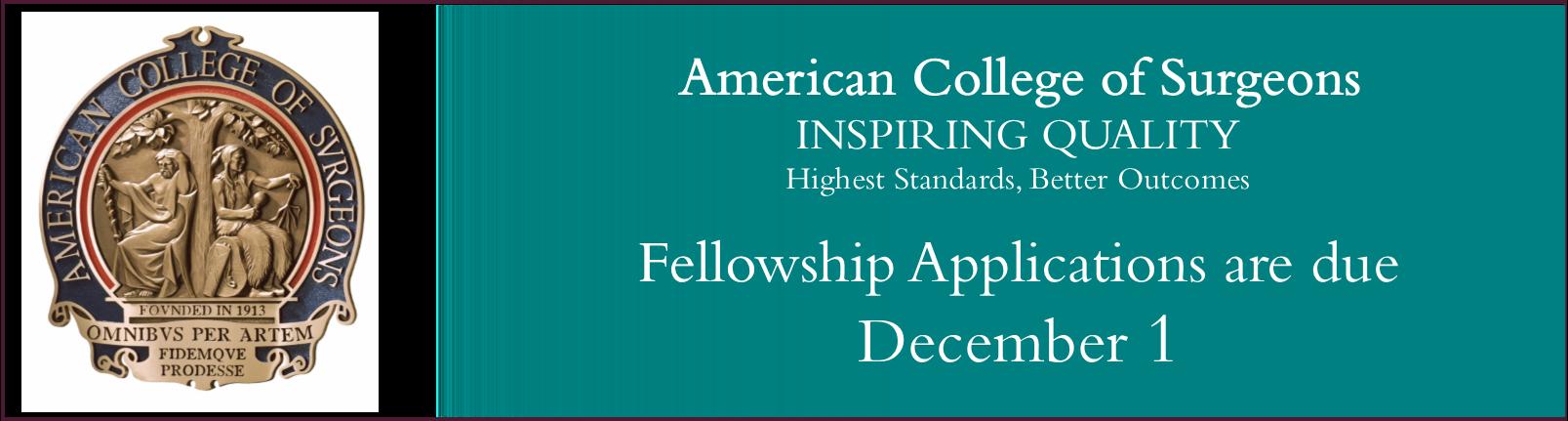 Fellowship Deadline